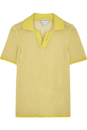 Bottega Veneta Open-knit mesh polo shirt