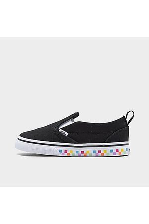 Vans Kids' Toddler Classic Checkerboard Slip-On Casual Shoes in /Rainbow