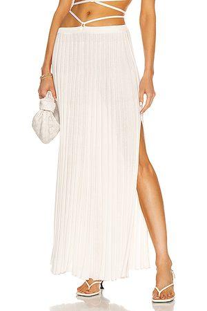 CHRISTOPHER ESBER Women Pleated Skirts - Pleated Knit Tie Skirt in White