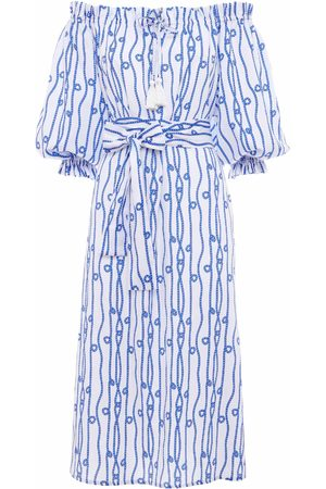Paolita Cleo Midi Off Shoulder Dress