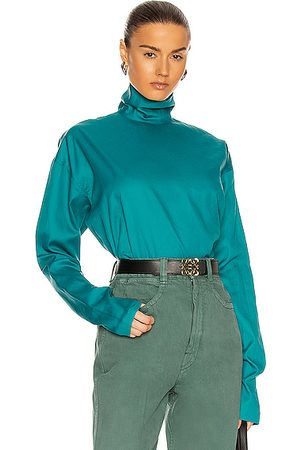 LEMAIRE Women High Necks - High Neck Second Skin Top in Teal