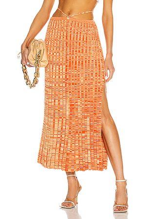 CHRISTOPHER ESBER Women Pleated Skirts - Pleated Knit Tie Skirt in