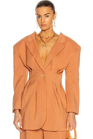 Jacquemus Women Blazers - La Veste Camargue in Orange