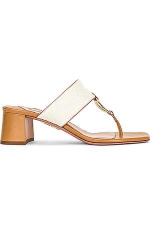 Aquazzura Ring 50 Sandal in Ivory