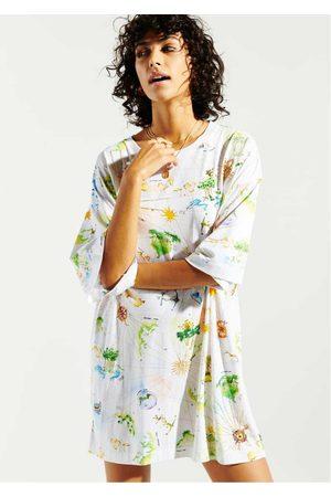 HAYLEY MENZIES Women Dresses - Paradise Found Embellished T-Shirt Dress