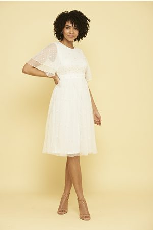 Frock and Frill Pandora Embroidered Midi Dress