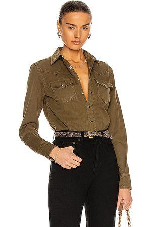 Saint Laurent Denim Shirt in Army