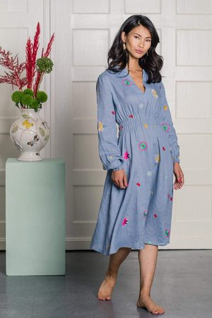 Nimo with Love Allium Dress Flower Embroidery