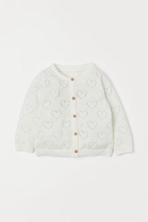 H&M Kids Cardigans - Cotton Pointelle Cardigan