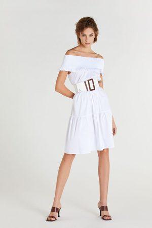 Patrizia Pepe Off-The-Shoulder Midi Dress