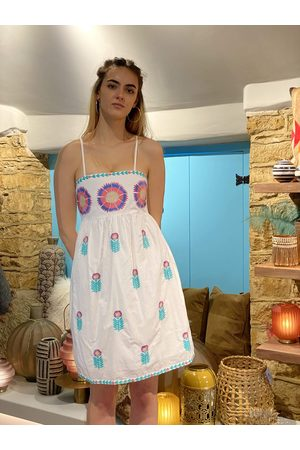Nimo with Love Agate Short Dress Maxi Flower Embroidery