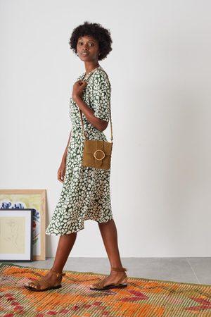 Leon & Harper Recif Animal Dress in Khaki