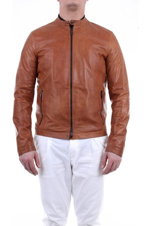 Emanuele Curci Leather-colored jacket