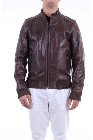 Emanuele Curci Hazelnut leather jacket