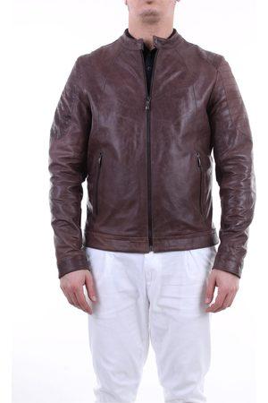 Emanuele Curci Dark leather jacket