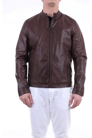 Emanuele Curci Men Leather Jackets - Dark leather jacket