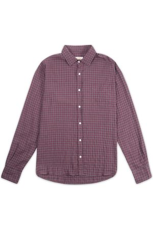Burrows and Hare Burrows & Hare Burgundy Gingham Shirt