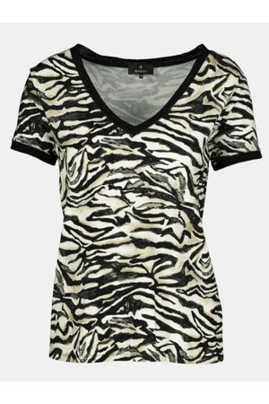 monari Tiger Print V-Neck T-Shirt