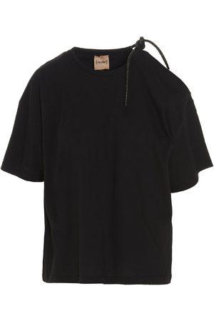 NUDE Women T-shirts - WOMEN'S 110353709 OTHER MATERIALS T-SHIRT