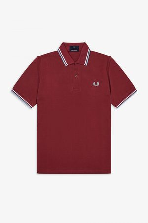 Fred Perry Reissues Fred Perry Twin Tipped M12 Polo Shirt - Maroon
