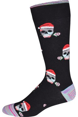 Robert Graham Skull Santa Mens Socks