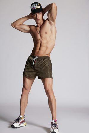 Dsquared2 Men Swim Shorts - Men Swimming trunks Military