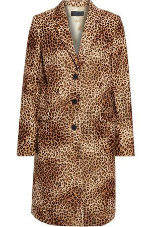 NILI LOTAN Woman Rosalin Leopard-print Cotton-velvet Coat Animal Print Size 0