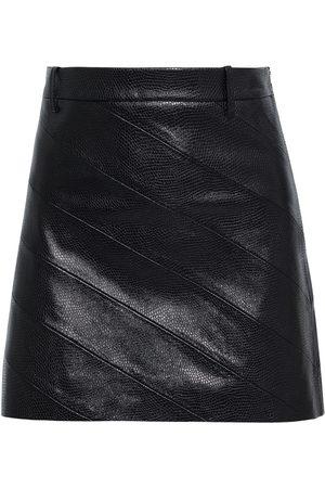 NILI LOTAN Women Mini Skirts - Woman Kennedy Paneled Snake-effect Leather Mini Skirt Size 0