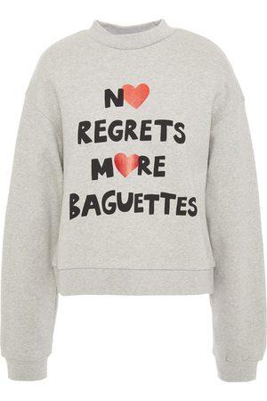 Être Cécile Women Sweatshirts - Être Cécile Woman Alexis No Regrets More Baguettes Printed Cotton-fleece Sweatshirt Light Size L