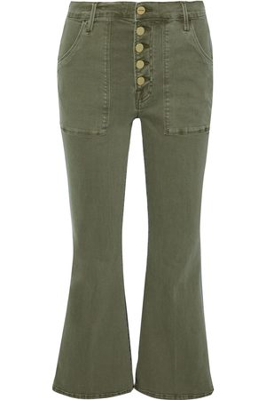 Frame Women High Waisted - Woman Le Crop Flare De Francoise High-rise Kick-flare Jeans Army Size 25