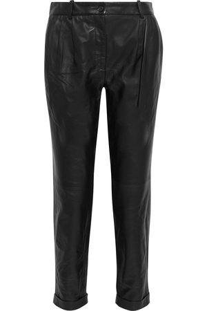 NILI LOTAN Woman Montana Leather Tapered Pants Size 0