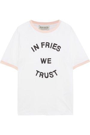 Être Cécile Être Cécile Woman Ringer In Fries We Trust Printed Organic Cotton-jersey T-shirt Size L