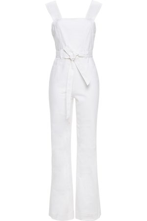 ALICE+OLIVIA Woman Gorgeous Belted Denim Jumpsuit Size 24
