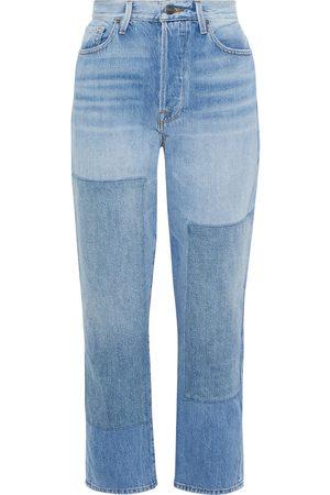 Frame Women Boyfriend Jeans - Woman Le Original Cropped Patchwork Boyfriend Jeans Light Denim Size 30