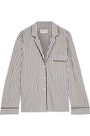 NILI LOTAN Woman Lauren Striped Cotton-broadcloth Shirt Chocolate Size L