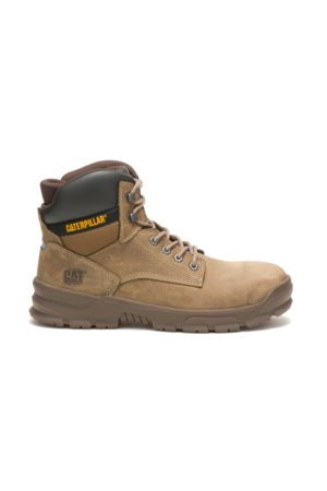 Caterpillar Men Boots - Men's Mobilize Alloy Toe Work Boot Fossil, Size 8W