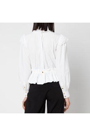 Ganni Women High Necks - Women's Cotton Poplin High Neck Shirt