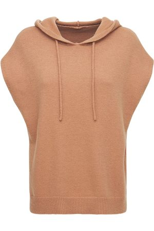 The Frankie Shop Juno Sleeveless Wool Blend Knit Hoodie