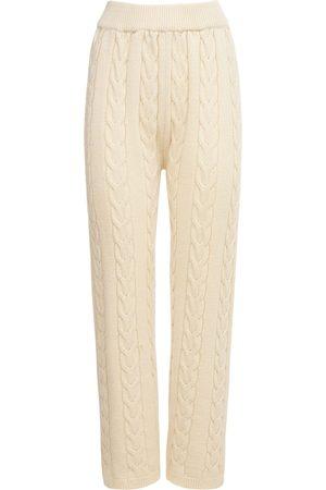 The Frankie Shop Women Sweats - Jules Wool Blend Cable Knit Lounge Pants