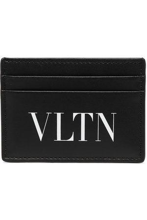 Valentino Garavani Men Wallets - VLTN-print leather cardholder