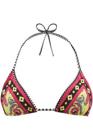 La DoubleJ Women Bikinis - Cartwheel Giallo-print Triangle Bikini Top - Womens - Multi