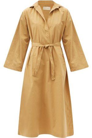 Mes Demoiselles Women Casual Dresses - Marina Belted Organic-cotton Shirt Dress - Womens - Camel