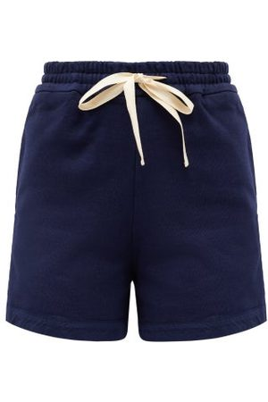 Jil Sander Women Shorts - Drawstring Cotton-jersey Shorts - Womens