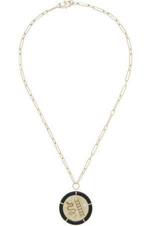 Retrouvai Women Necklaces - Vitality Diamond, Onyx & 14kt Necklace - Womens