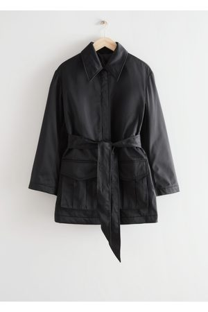 & OTHER STORIES Short Technical Trench Coat