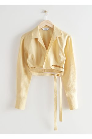 & OTHER STORIES Cropped Criss Cross Tie Blouse
