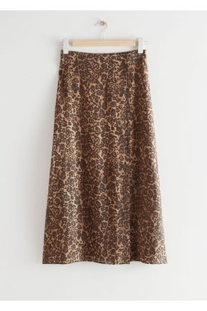 & OTHER STORIES Buttoned Floaty Midi Skirt