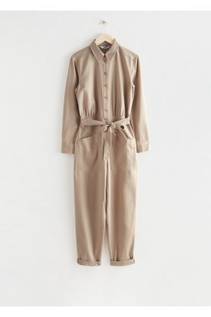 & OTHER STORIES Belted Buttoned Patch Pocket Jumpsuit