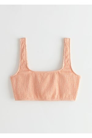 & OTHER STORIES Ruched Square Neck Bikini Top