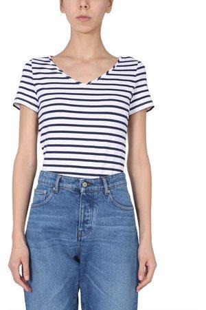SAINT JAMES Women T-shirts - WOMEN'S 831188NEIGEMARINE OTHER MATERIALS T-SHIRT